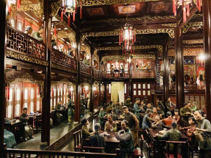 上海城市歴史発展陳列館 貴族の食事光景