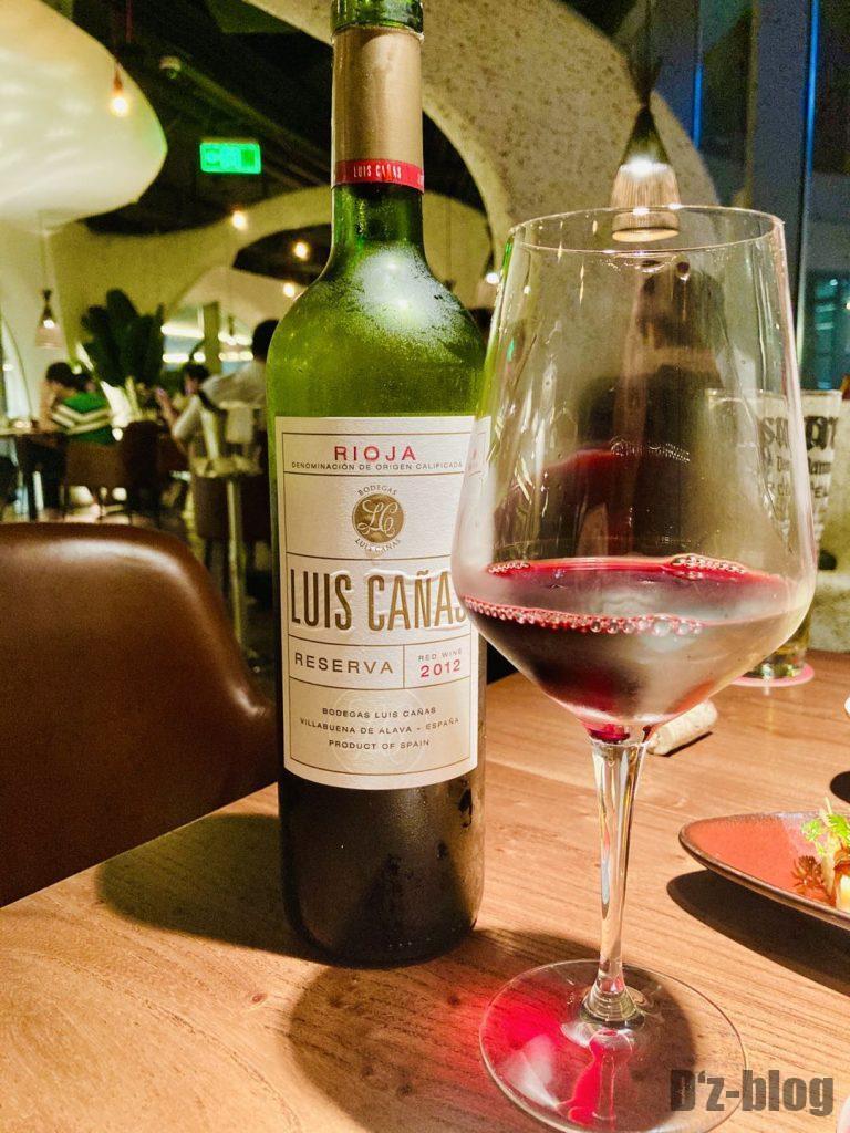 上海TapaTapa スペインの赤ワイン