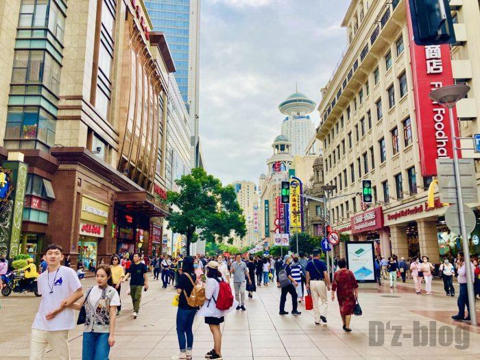 上海南京路歩行街 全体