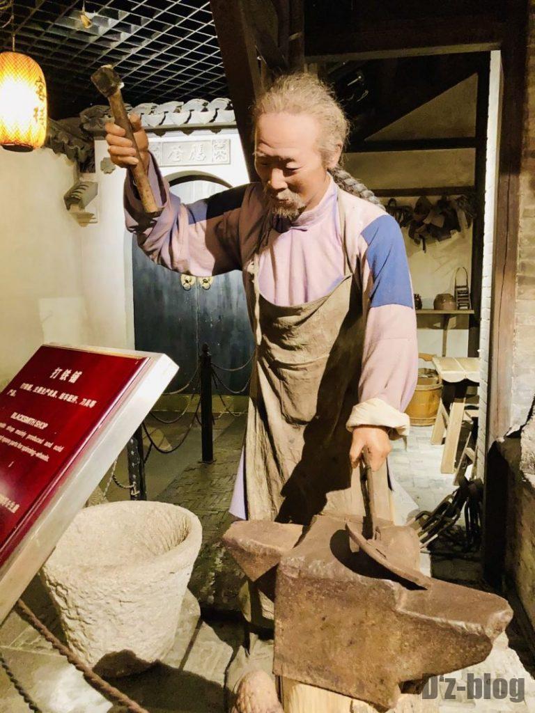 上海城市歴史発展陳列館 陶器作り
