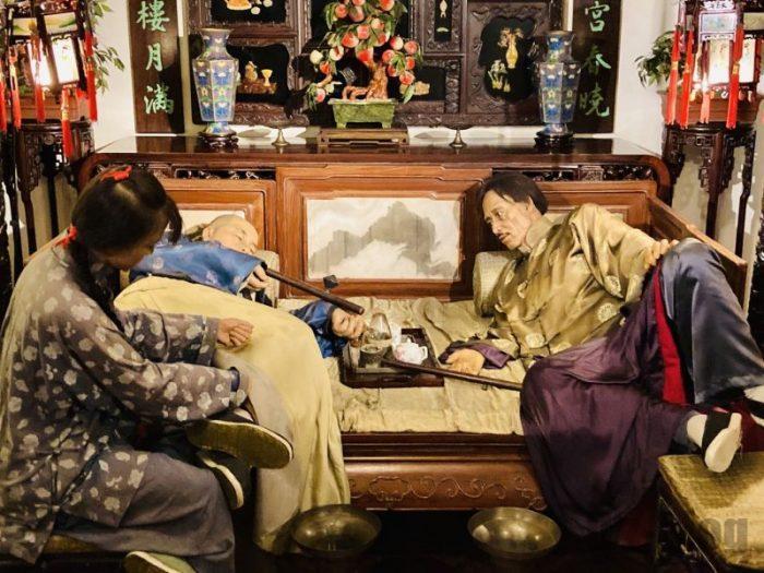 上海城市歴史発展陳列館 寝室光景