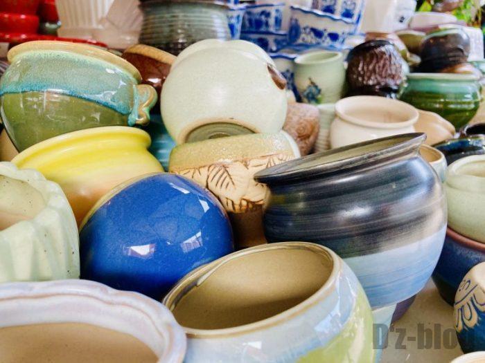 上海岚灵花鳥市場 陶器