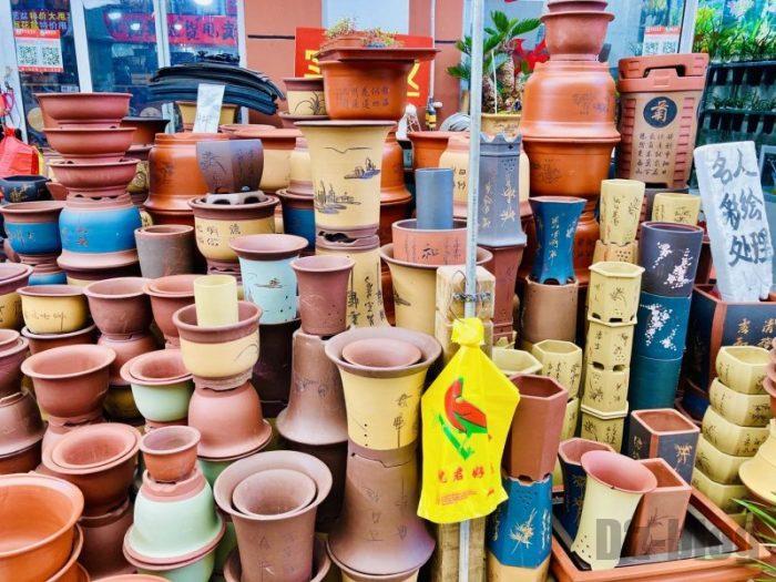 上海岚灵花鳥市場 植木鉢