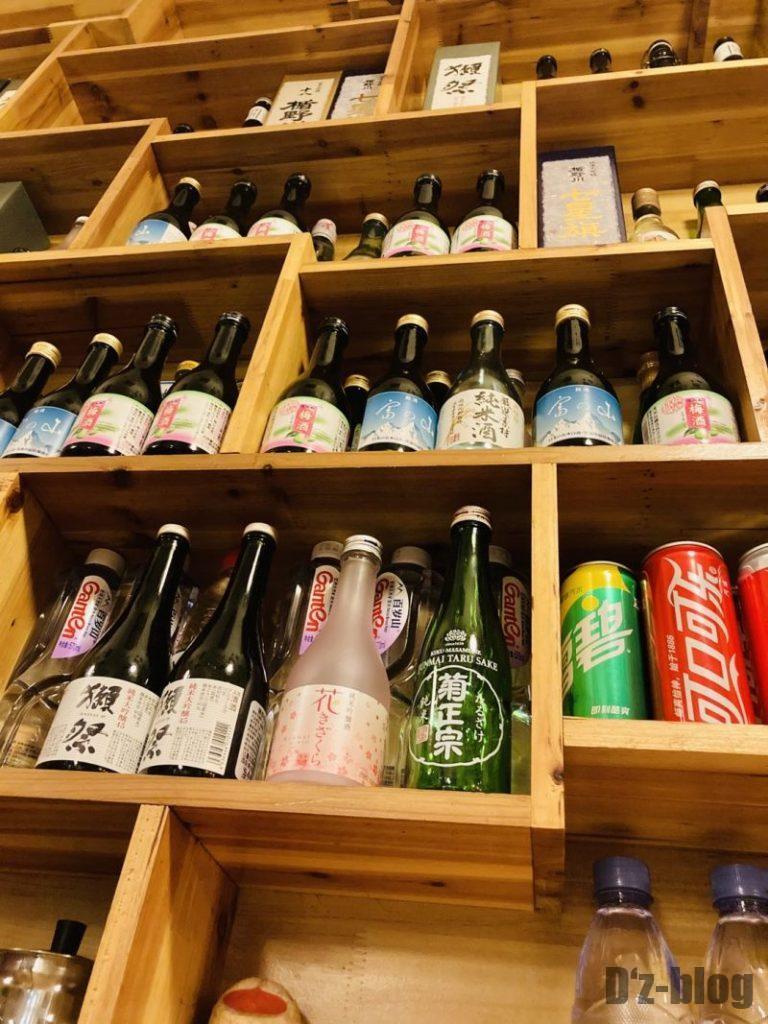 上海居酒屋花ちゃん 酒棚