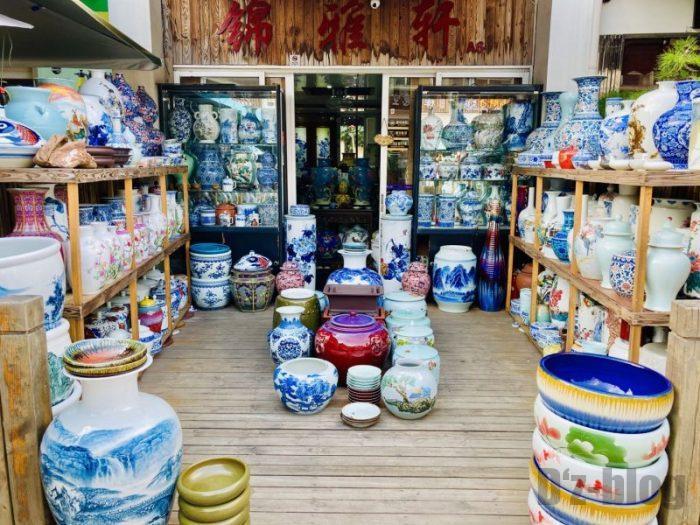 上海岚灵花鳥市場 壺店