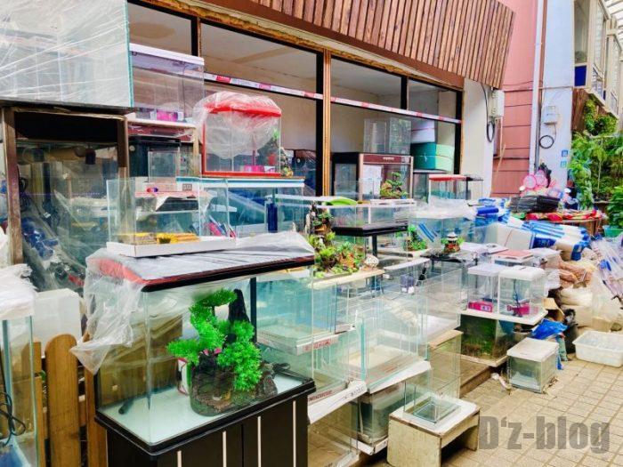上海岚灵花鳥市場 水槽屋商品