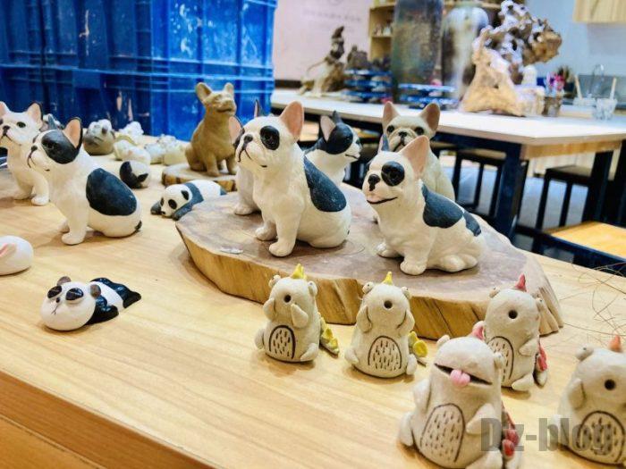 上海大悦城手作りエリア 陶器作品陳列