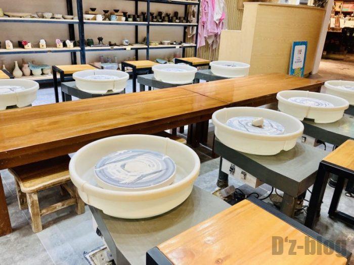 上海大悦城手作りエリア 陶器制作室光景