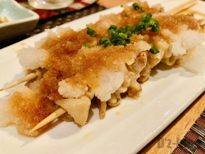 上海岳 鶏皮たっぷりおろしポン酢