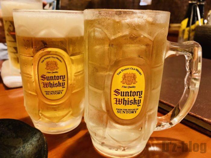 上海居酒屋花ちゃん ハイボールとビール