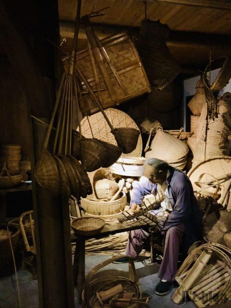 上海城市歴史発展陳列館 籠づくり