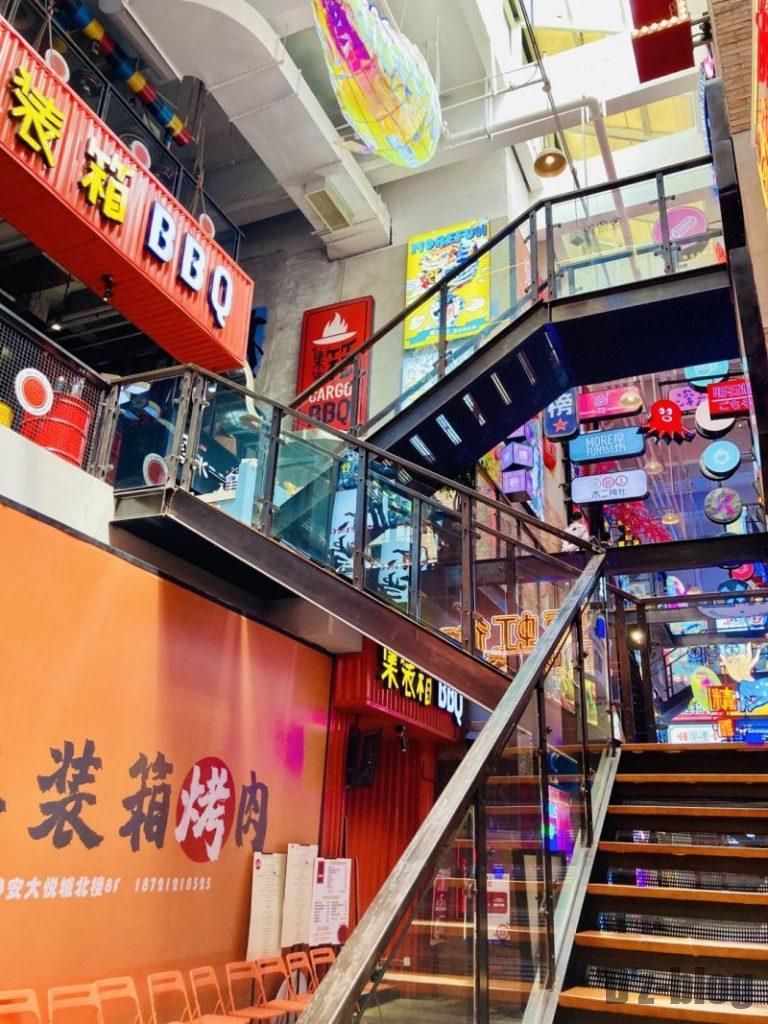上海大悦城 霓虹街 中央階段