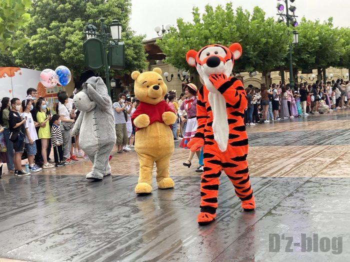 上海ディズニーランド午前パレードぷーさん