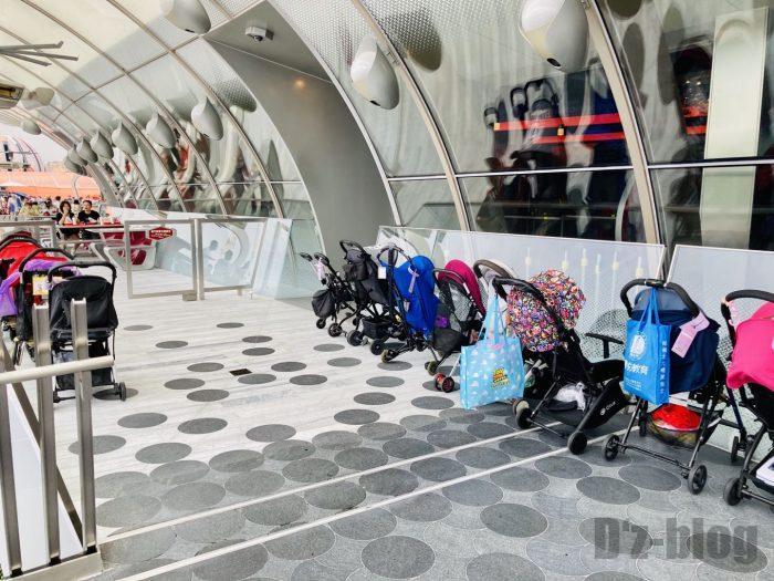 上海ディズニーランドスターゲイザーグリル乳母車置き場
