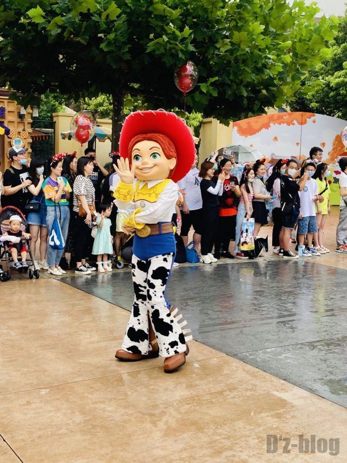上海ディズニーランド午前パレードトイストーリー