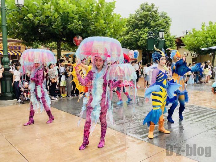 上海ディズニーランド午前パレードクラゲ