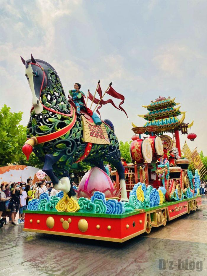 上海ディズニーランド午前パレード三国志