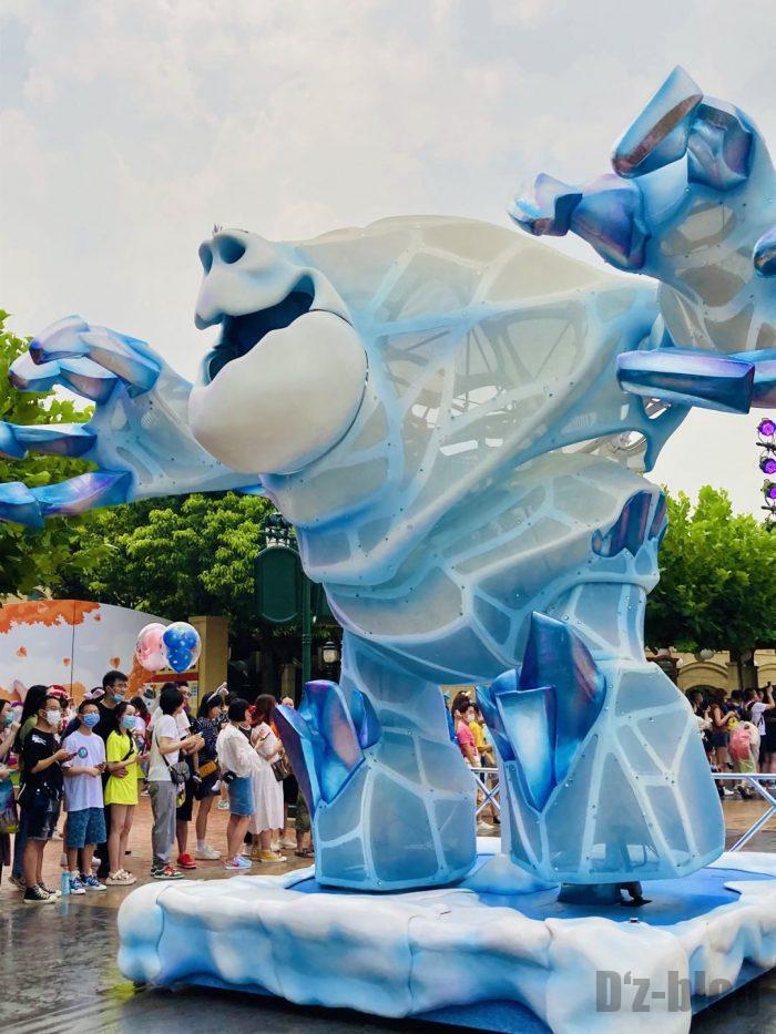上海ディズニーランド午前パレード最後尾