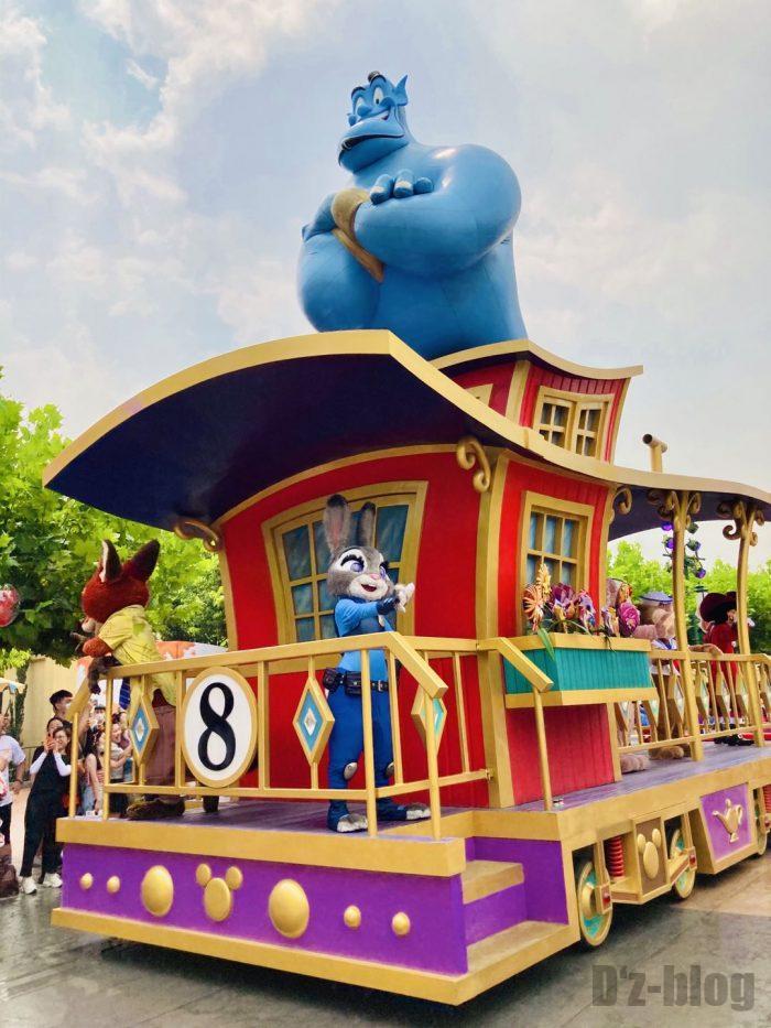 上海ディズニーランド午前パレードアラジン