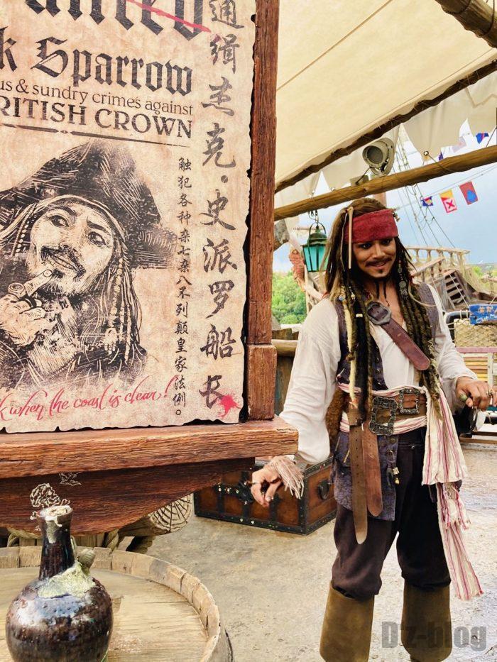 上海ディズニーランド海賊モデルとポスター