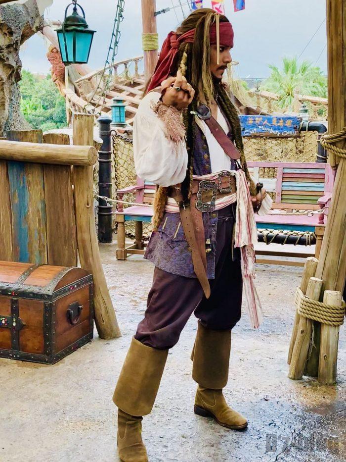 上海ディズニーランド海賊モデル