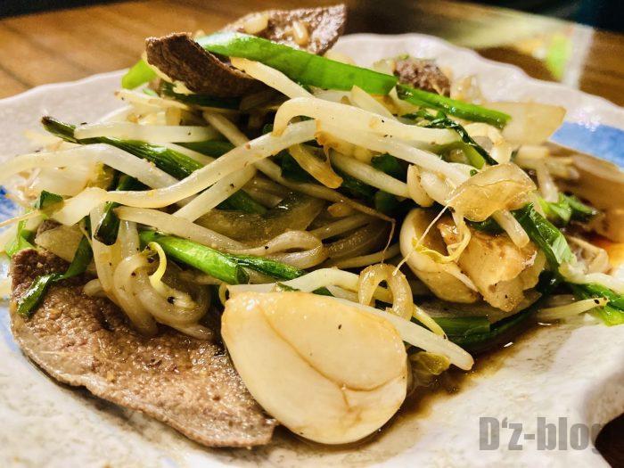 上海北海道料理ふるさとレバニラ炒め