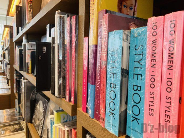 杭州TSUTAYA書店撮影とファッション雑誌のフロアファッション本