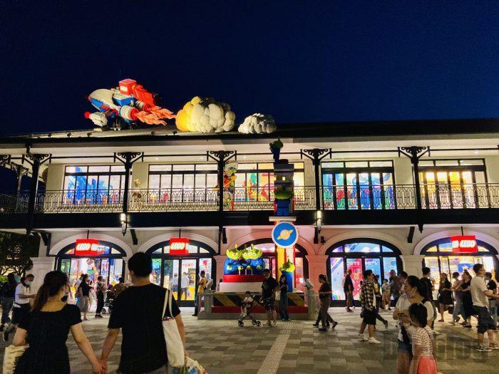 上海ディズニータウン夜