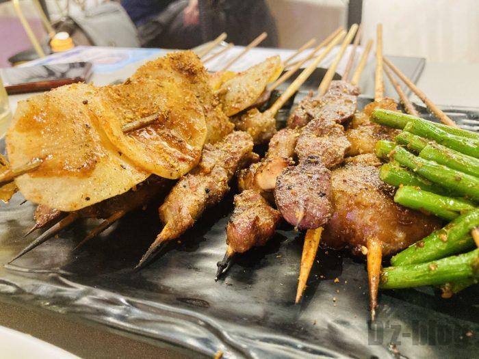 上海大成活海鮮烧烤 串盛り合わせ