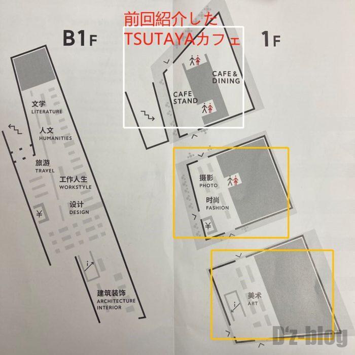 杭州TSUTAYA書店店内案内図