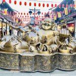 杭州清河坊子沢山の神様