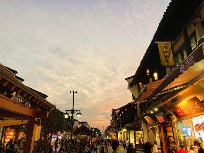 杭州清河坊風景夜