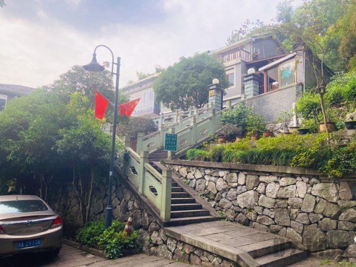 杭州龍井村お茶屋