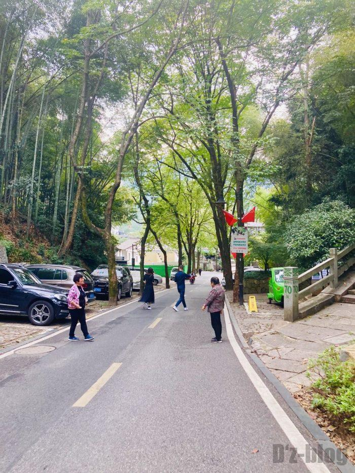 杭州龍井村道中