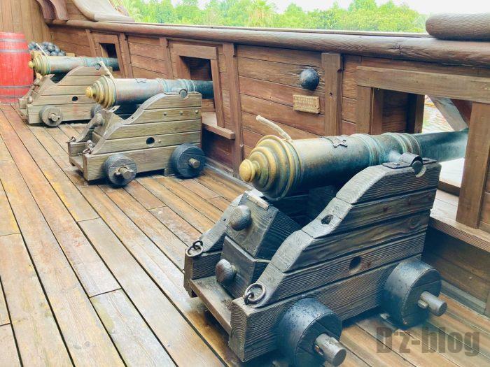 上海ディズニーランド海賊船ディスプレイ大砲