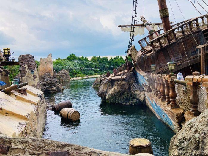 上海ディズニーランド海賊船水鉄砲