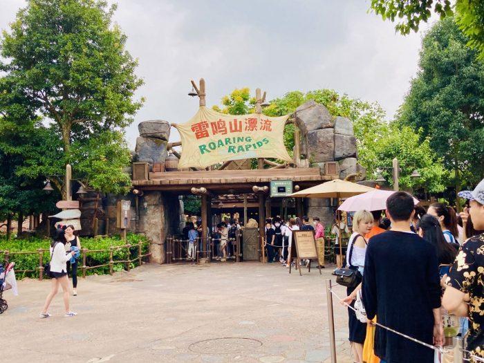 上海ディズニーランドローリングスプリット入り口