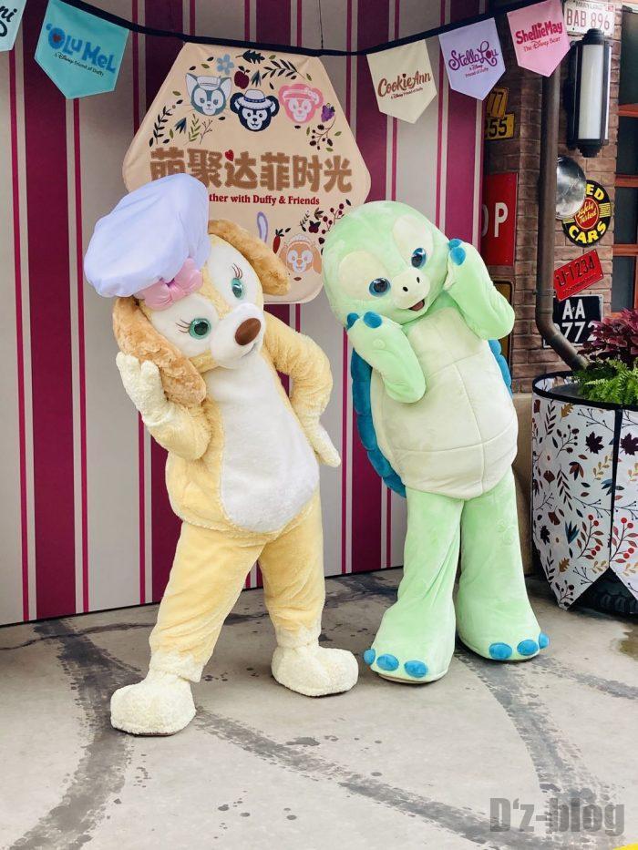 上海ディズニーランド犬と亀
