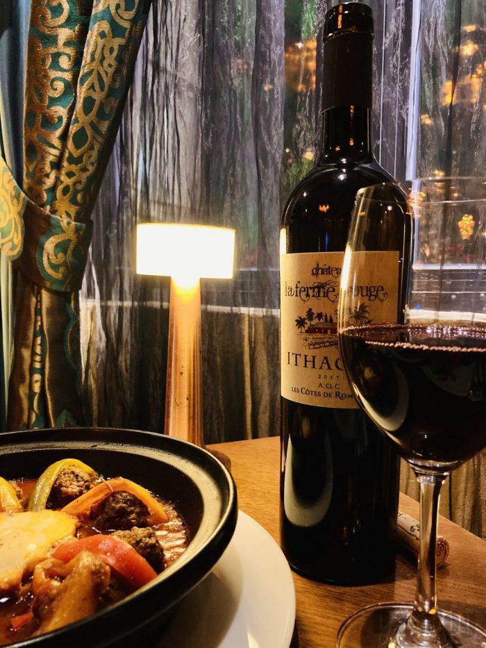上海Tajine Moroccan经典网红純牛肉温泉蛋とモロッコワイン
