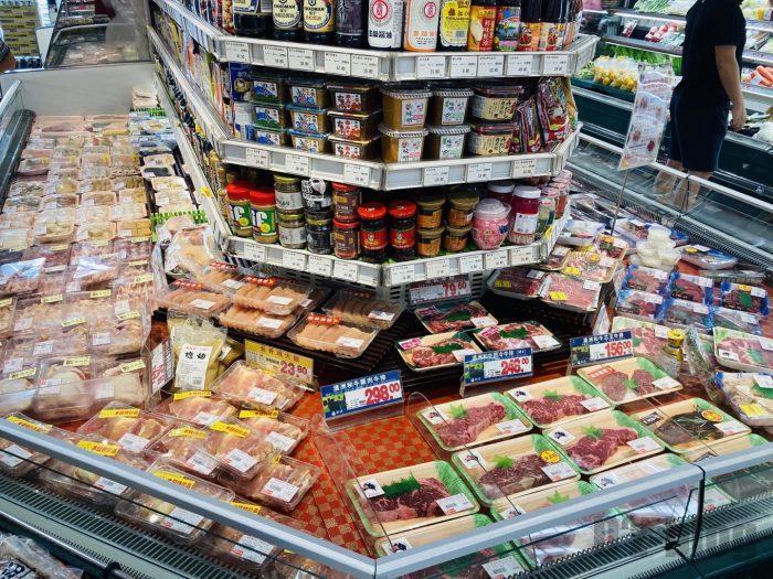 上海新快 お肉コーナー全体