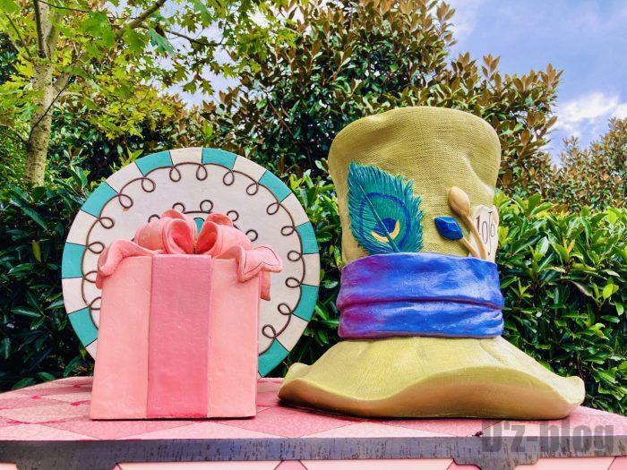 上海ディズニーランドアリスの迷路内茶会帽子