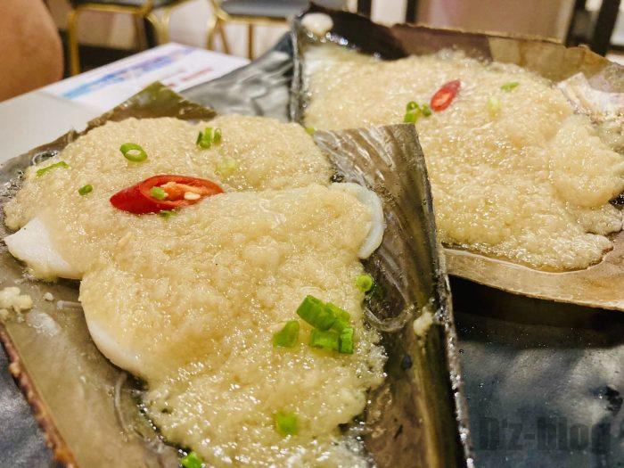 上海大成活海鮮烧烤 貝のニンニク乗焼き