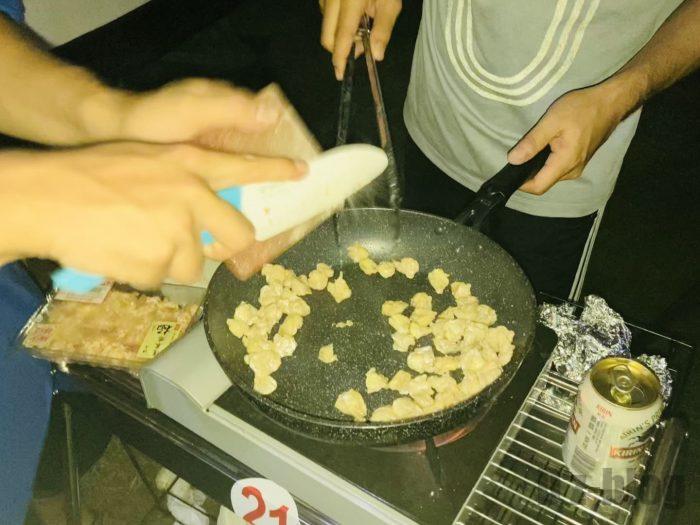 上海合宿キャンプ BBQ