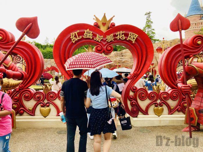 上海ディズニーランドハートの女王の庭入り口