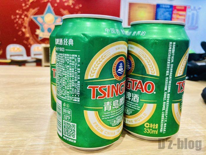 上海鼎杰ボーリング場 青島ビール