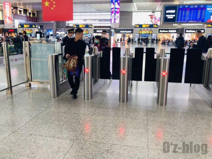 上海高鉄乗り方改札通過後