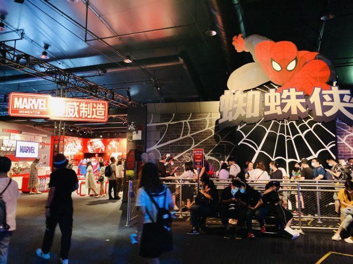 上海ディズニーランドMarvelスパイダーマン