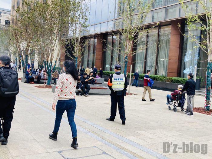 上海南京東路歩行者天国警備