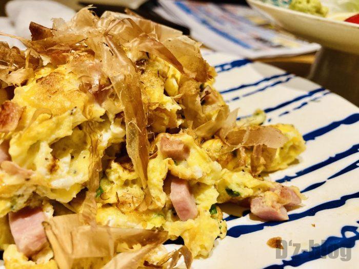 上海彩羽ウインナーと卵炒め