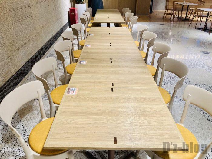 上海森ビル地下二階テーブル席⑩